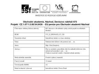 Obchodní akademie, Náchod, Denisovo nábřeží 673