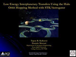 Low Energy Interplanetary Transfers Using the Halo Orbit Hopping Method with STK/Astrogator