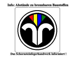 Info: Abst�nde zu brennbaren Baustoffen