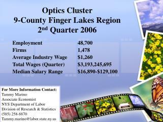 Optics Cluster 9-County Finger Lakes Region 2 nd  Quarter 2006