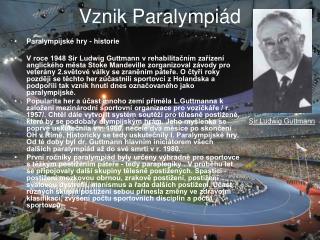 Vznik Paralympiád