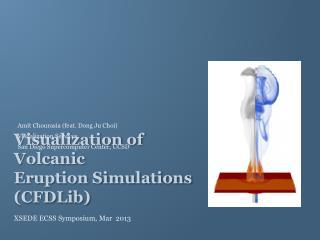 Visualization of Volcanic  Eruption Simulations (CFDLib)