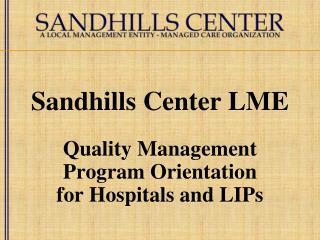 Sandhills Center LME
