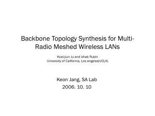 Keon Jang, SA Lab 2006. 10. 10