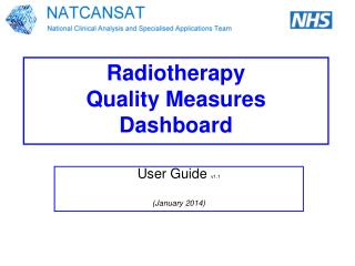 Radiotherapy Quality Measures Dashboard