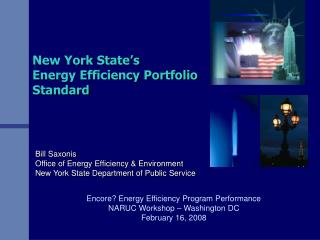 The Energy Efficiency Portfolio Standard EEPS Proceeding