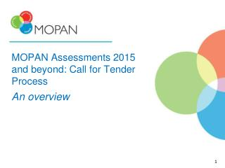 MOPAN Assessments 2015 and beyond: Call for Tender Process An overview