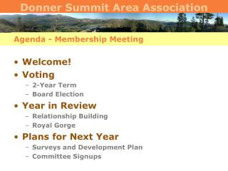 Agenda - Membership Meeting
