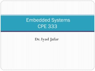Embedded Systems  CPE 333