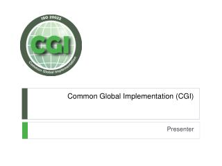 Common Global Implementation (CGI)