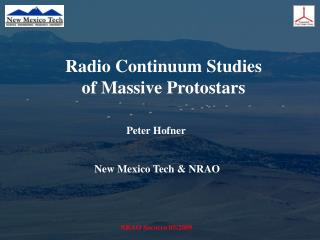 Radio Continuum Studies of Massive Protostars
