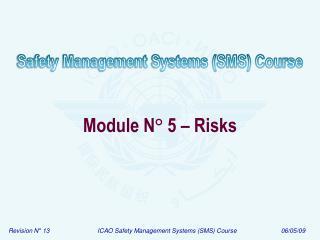 Module N ° 5 – Risks
