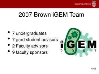 2007 Brown iGEM Team