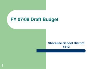 FY 07/08 Draft Budget