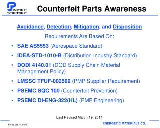Counterfeit Parts Awareness