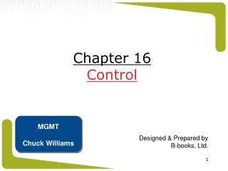 Chapter 16 Control