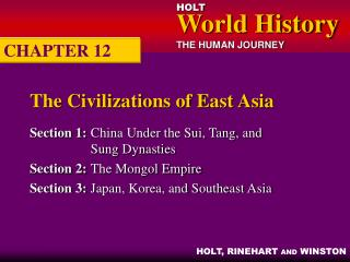 The Civilizations of East Asia