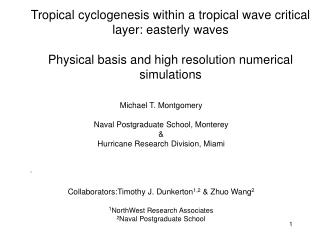 Tropical cyclogenesis within a tropical wave critical  layer: easterly waves