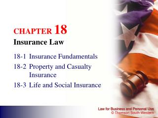 CHAPTER  18 Insurance Law