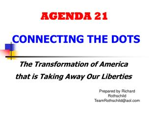 AGENDA 21 CONNECTING THE DOTS