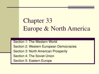 Chapter 33 Europe & North America