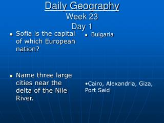 Daily Geography Week 23 Day 1