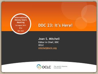 DDC 23: It's Here!