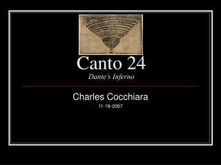 Canto 24 Dante's Inferno