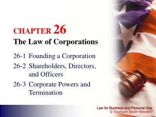 CHAPTER  26 The Law of Corporations