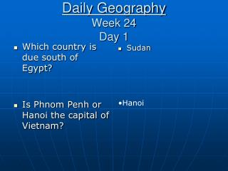 Daily Geography Week 24 Day 1
