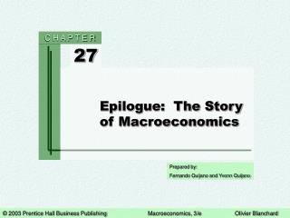 Epilogue:  The Story of Macroeconomics