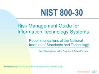 NIST 800-30