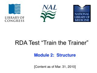 "RDA Test ""Train the Trainer"""