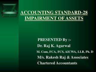 ACCOUNTING STANDARD-28 IMPAIRMENT OF ASSETS