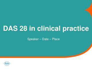 DAS 28 in clinical practice