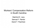 Workers  Compensation Reform in South Carolina