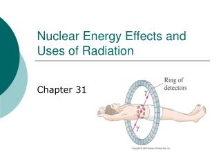 Nuclear Energy Effects and Uses of Radiation