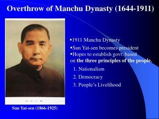 Sun Yat-sen (1866-1925)