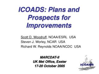 ICOADS: Plans and Prospects for Improvements
