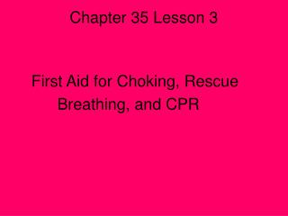 Chapter 35 Lesson 3