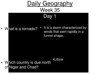 Daily Geography Week 35 Day 1