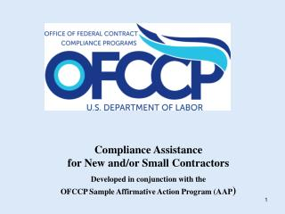 Compliance Assistance  for New and/or Small Contractors
