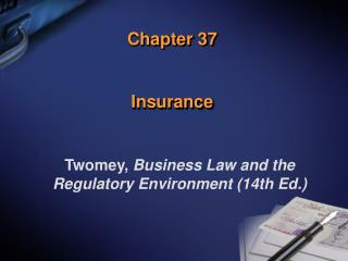 Chapter 37 Insurance