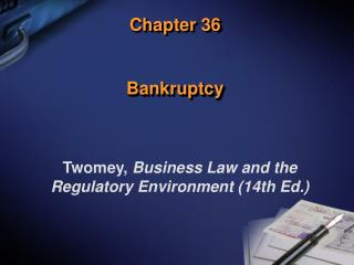 Chapter 36 Bankruptcy