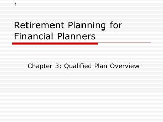 Retirement Planning for Financial Planners