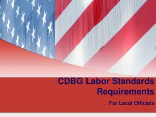 CDBG Labor Standards Requirements For Local Officials
