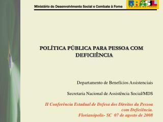 POL TICA P BLICA PARA PESSOA COM DEFICI NCIA