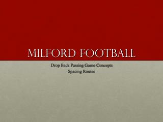 Milford Football