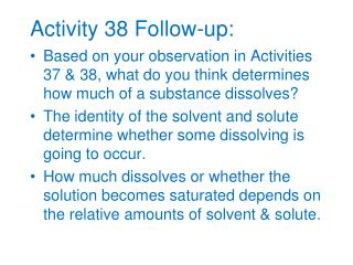 Activity 38 Follow-up: