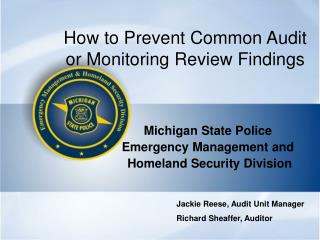 How to Prevent Common Audit or Monitoring Review Findings